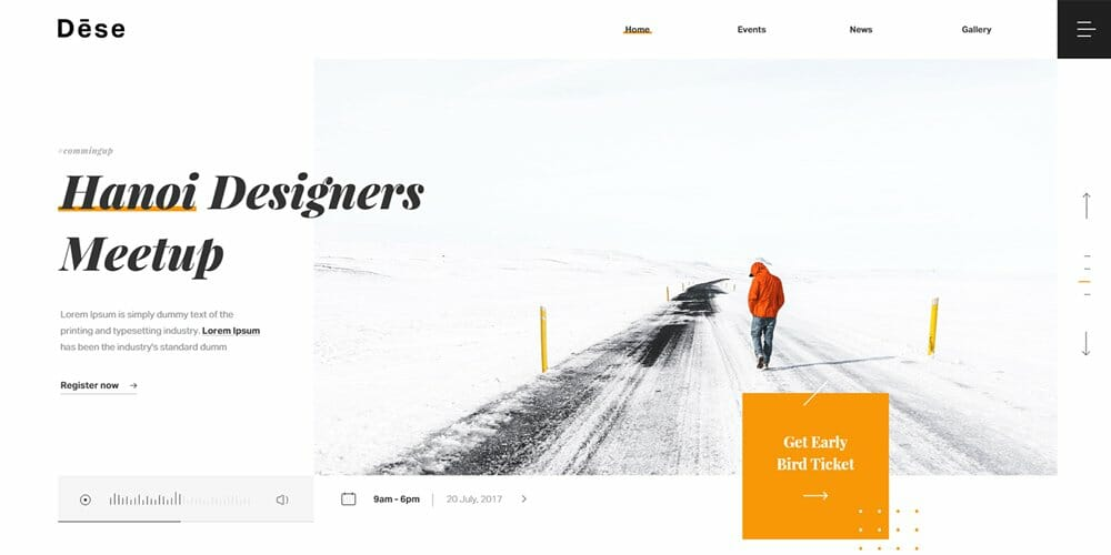 Dese Landing Page Template