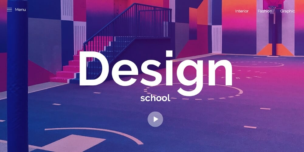 Design School Landing Page Template
