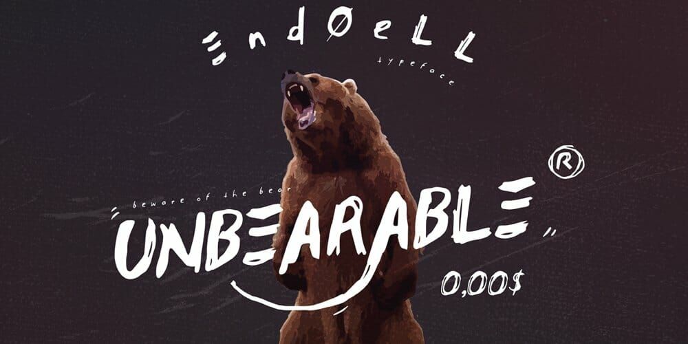 Endoell Brush Font