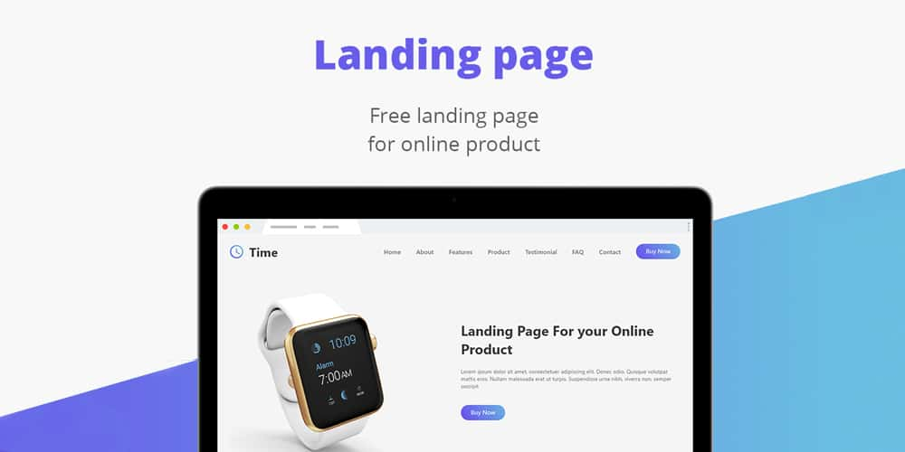 Free Landing Page for Online Product