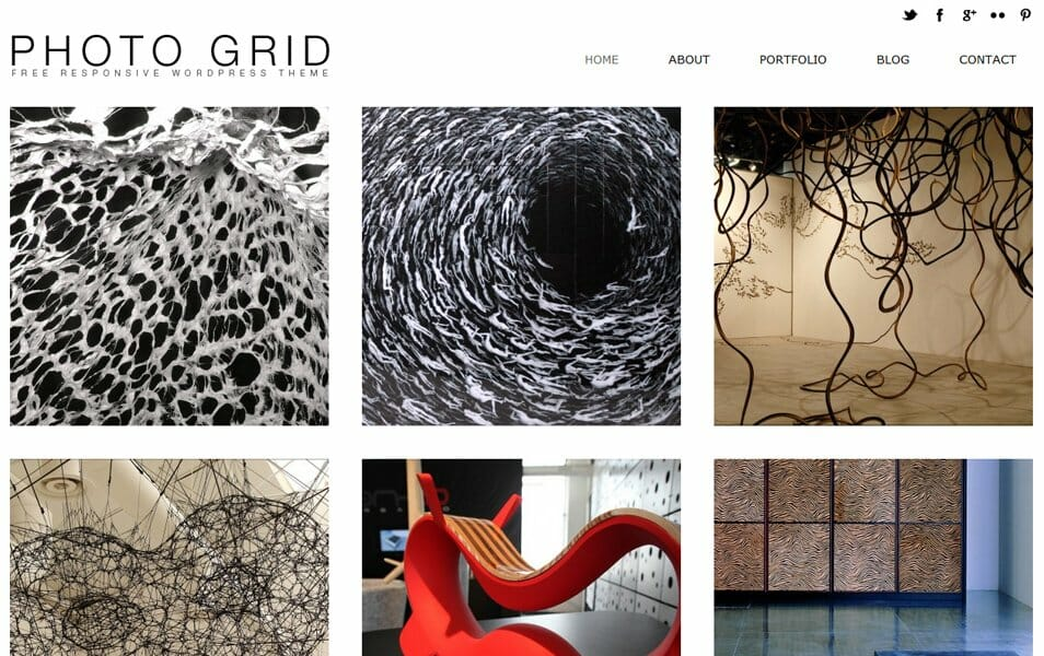 Free Photo Grid Theme