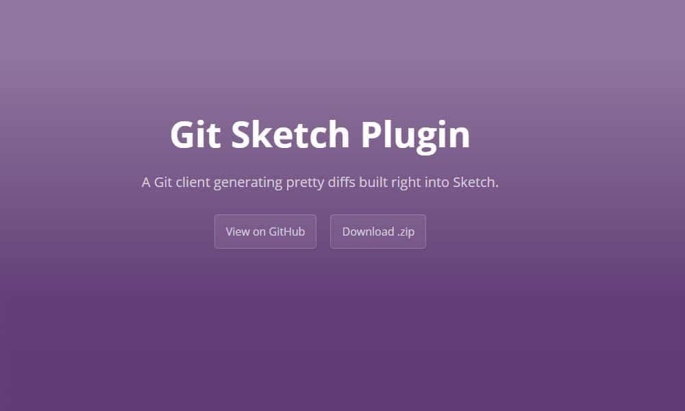 Git Sketch Plugin