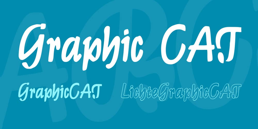 Graphic CAT Brush Script Typefaces