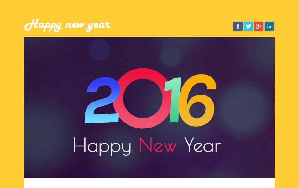 Happy New Year a Newsletter Template
