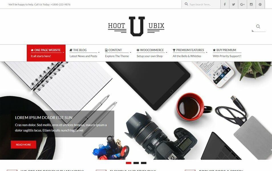 Hoot Ubix Responsive WordPress Theme