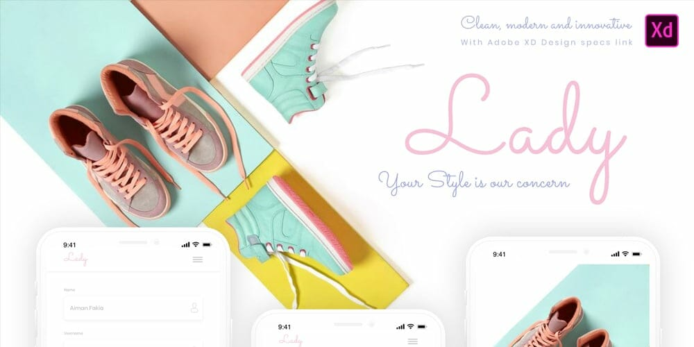 Lady Mobile App Template