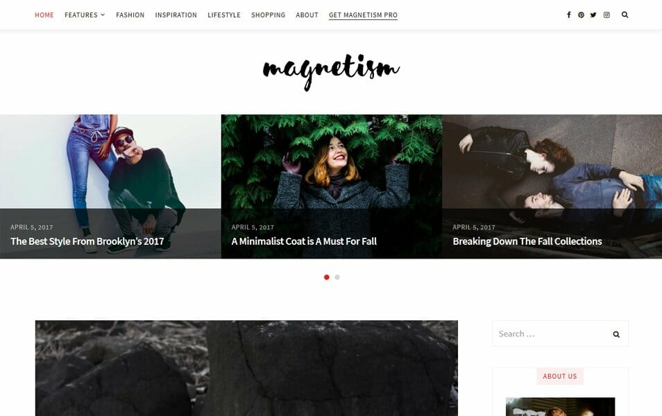 Magnetism Responsive WordPress Theme