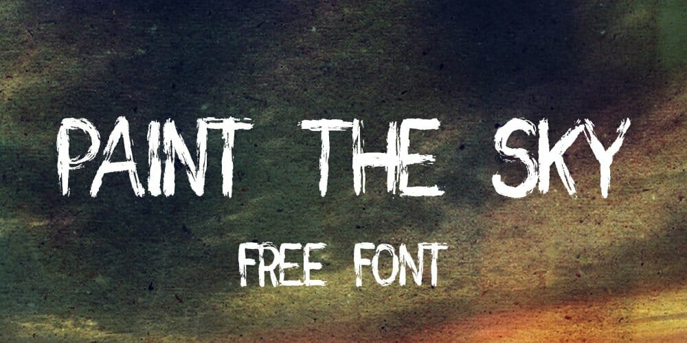 Paint the Sky Handwritten Brush Font