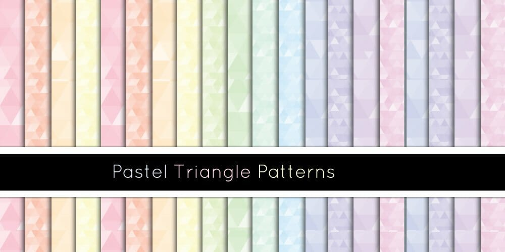 Pastel Triangle Patterns