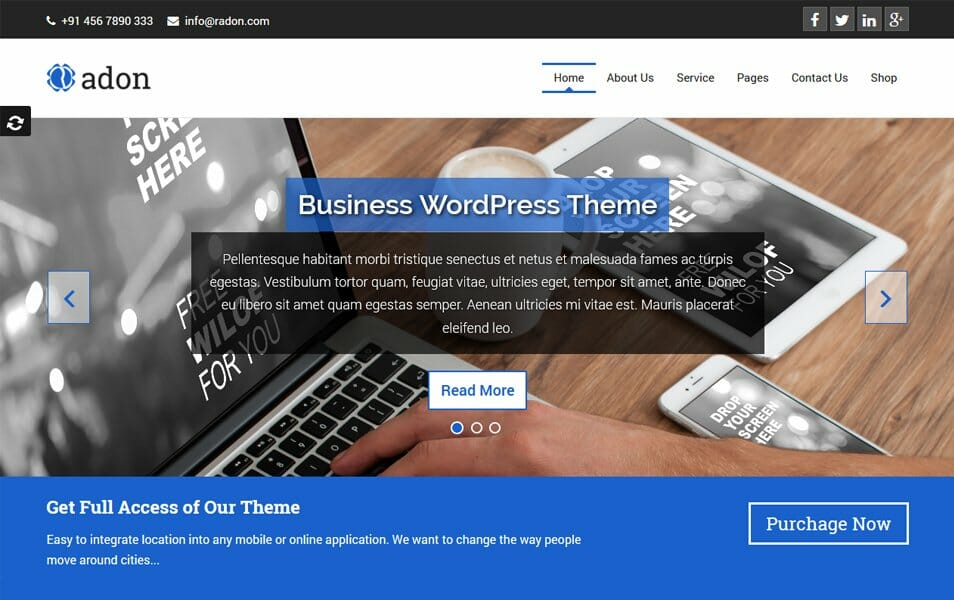 100 best free business wordpress themes 2018 css author radon responsive wordpress theme colourmoves