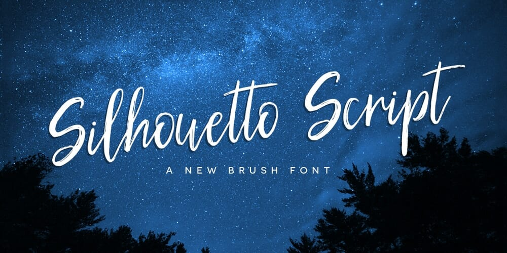 Silhouetto Handwritten Brush Font