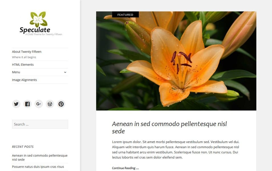 Speculate Responsive WordPress Theme