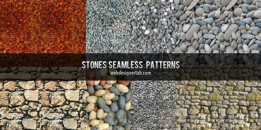 Stones Seamless Patterns