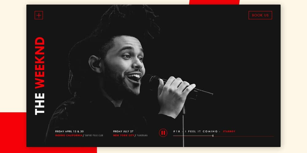 The Weeknd Landing Page