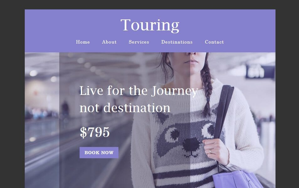 Touring a Newsletter Responsive Web Template