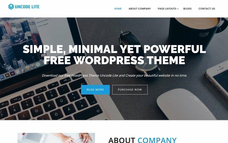 750 best free responsive wordpress themes 2018 css author uncode lite responsive wordpress theme fandeluxe Images