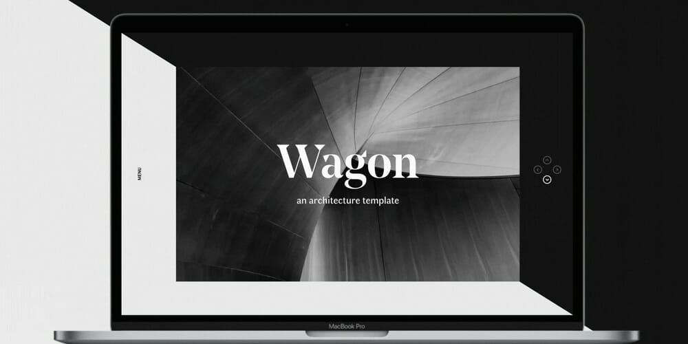 Wagon Web Template for Adobe XD