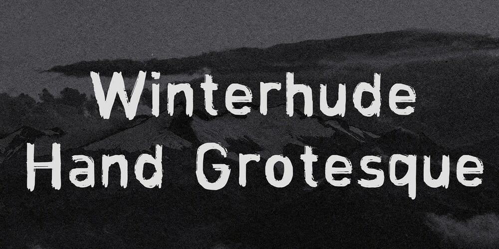 Winterhude Hand Grotesque Brush Font