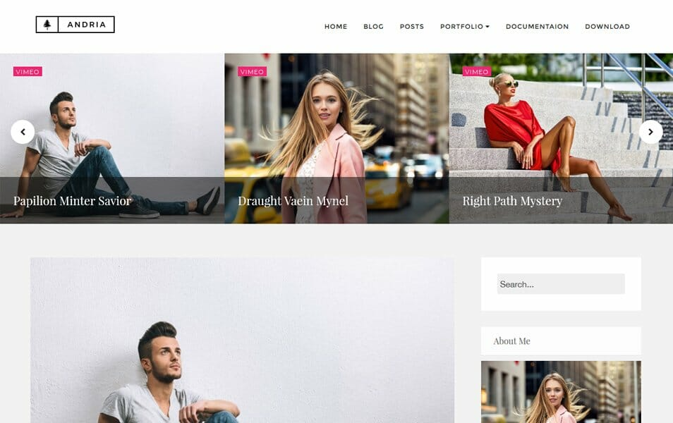 Andria Responsive Blogger Template