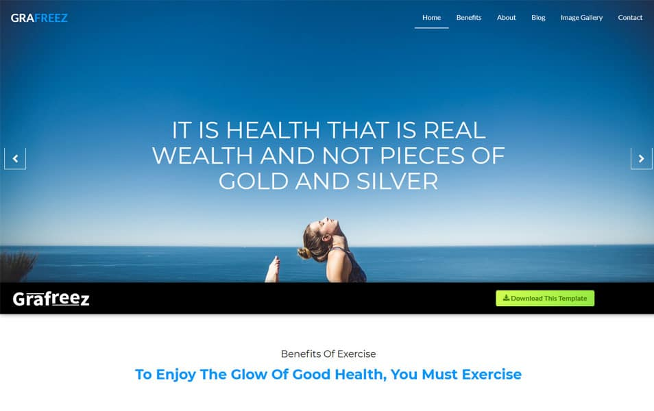 Burnout – Bootstrap 4 Fitness Website Template