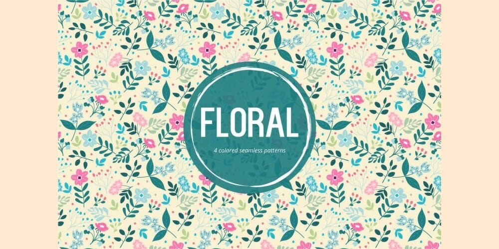 Floral Vector Free Seamless Pattern