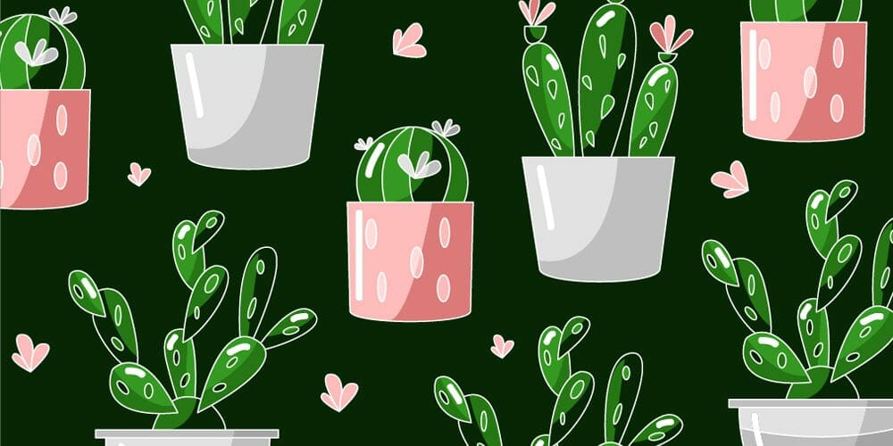 Free Cactus Vector Pattern