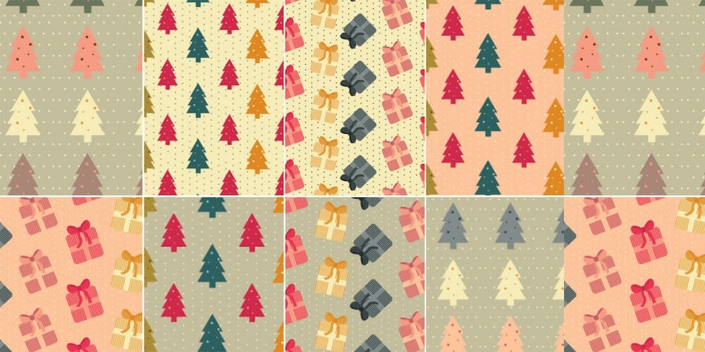 Free Colorful Christmas Patterns