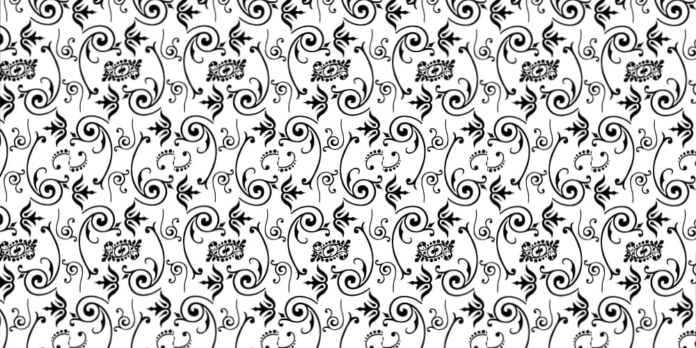 Free Floral Spiral Seamless Vector Pattern