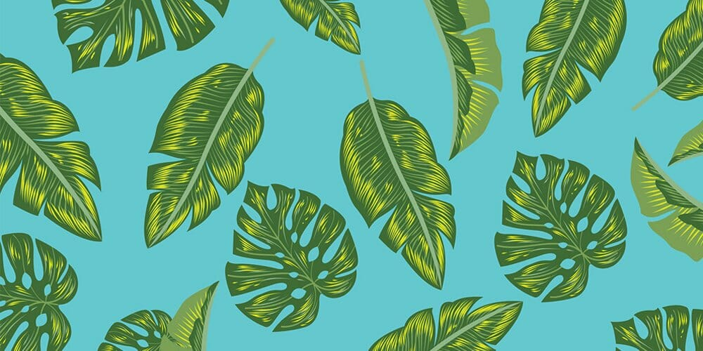 Free Tropical Palm Leaves Vector Patterns