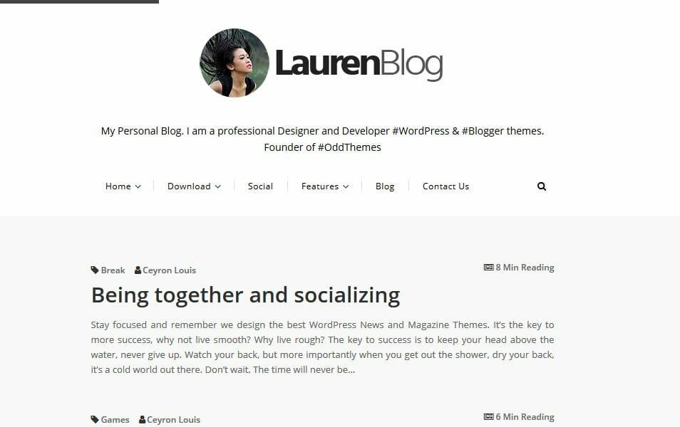 Lauren Responsive Blogger Template