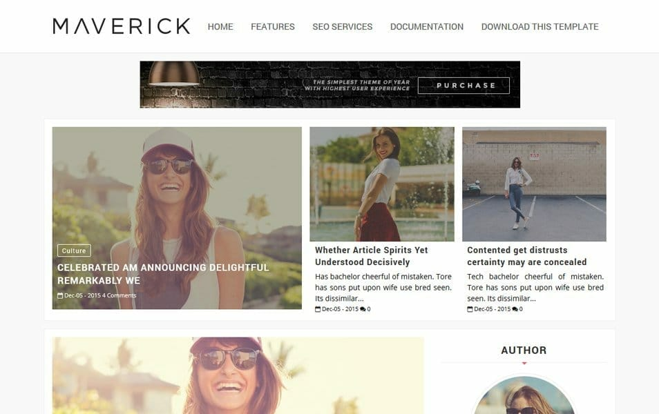 Maverick Fashion Responsive Blogger Template