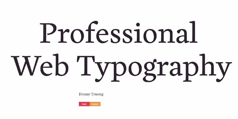 Professional Web Typography