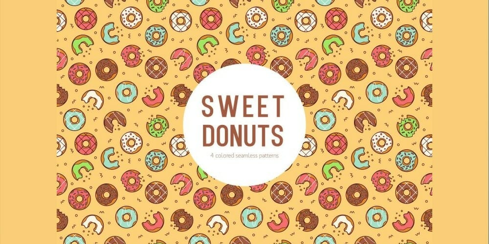 Sweet Donuts Seamless Pattern