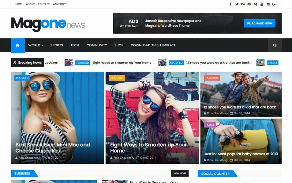 300 best free responsive blogger templates 2018 css author the magone responsive blogger template wajeb Images
