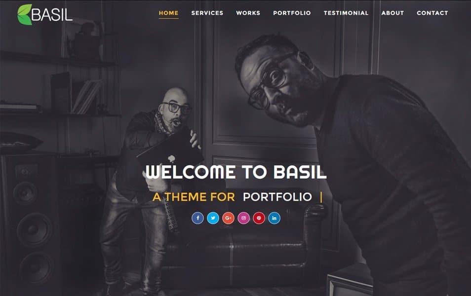 Basil Portfolio Responsive Blogger Template