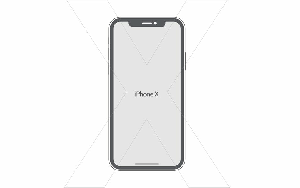 Free iPhone X Vector