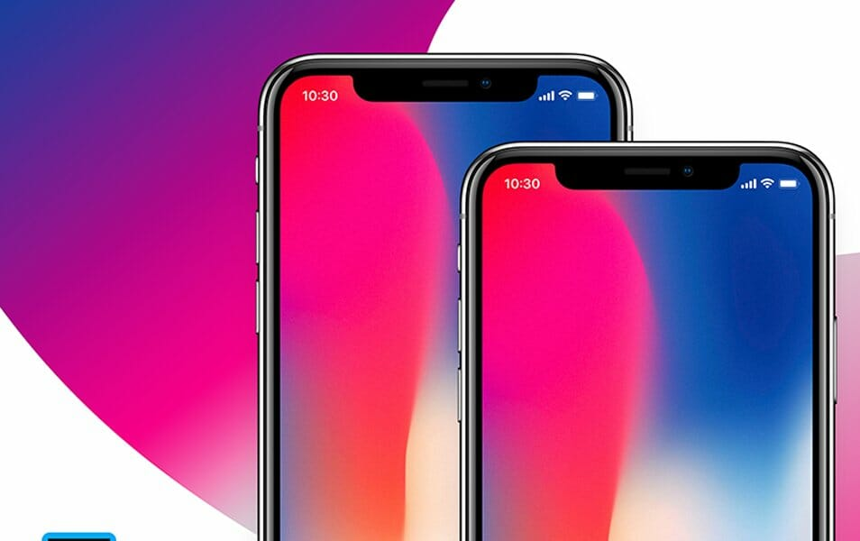 Free iPhone x Presentation Mockup Vector