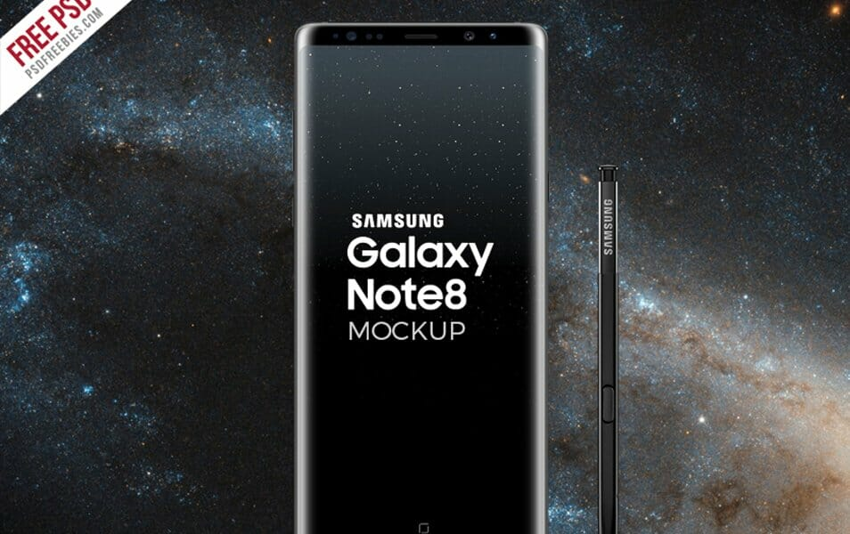 Galaxy Note 8 Mockup PSD
