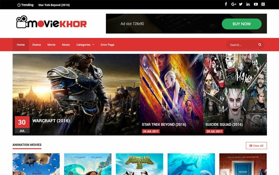MovieKhor Responsive Blogger Template