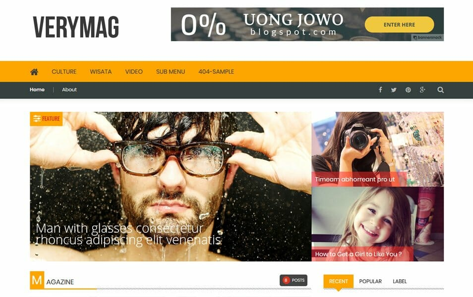 VeryMag Responsive Blogger Template