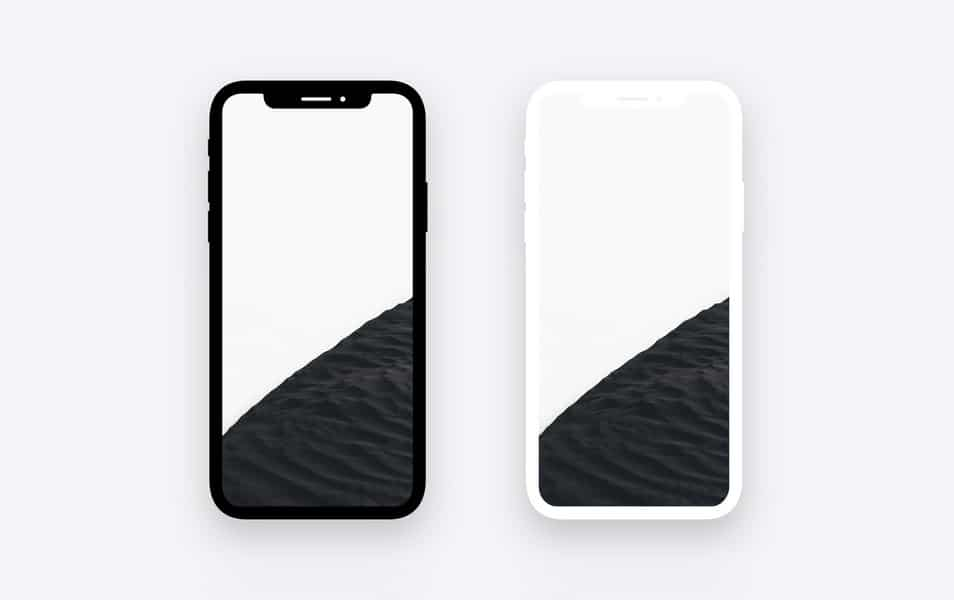 iPhone X Minimal Dark & Light Template for Photoshop
