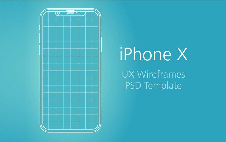 iPhone X - UX Wireframe & PSD Template