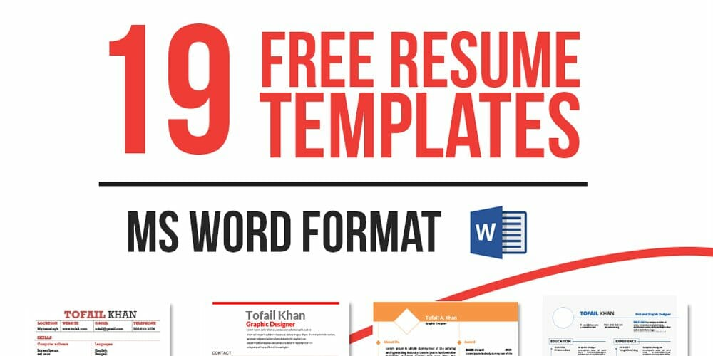 19 Free Resume Templates in MS WORD