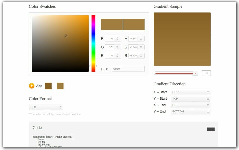 The ultimate collection of 500 css generators css author css gradient generator css3 factory malvernweather Gallery