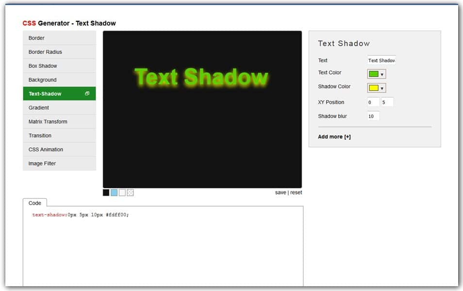 CSS Text Shadow Generator | AngryTools