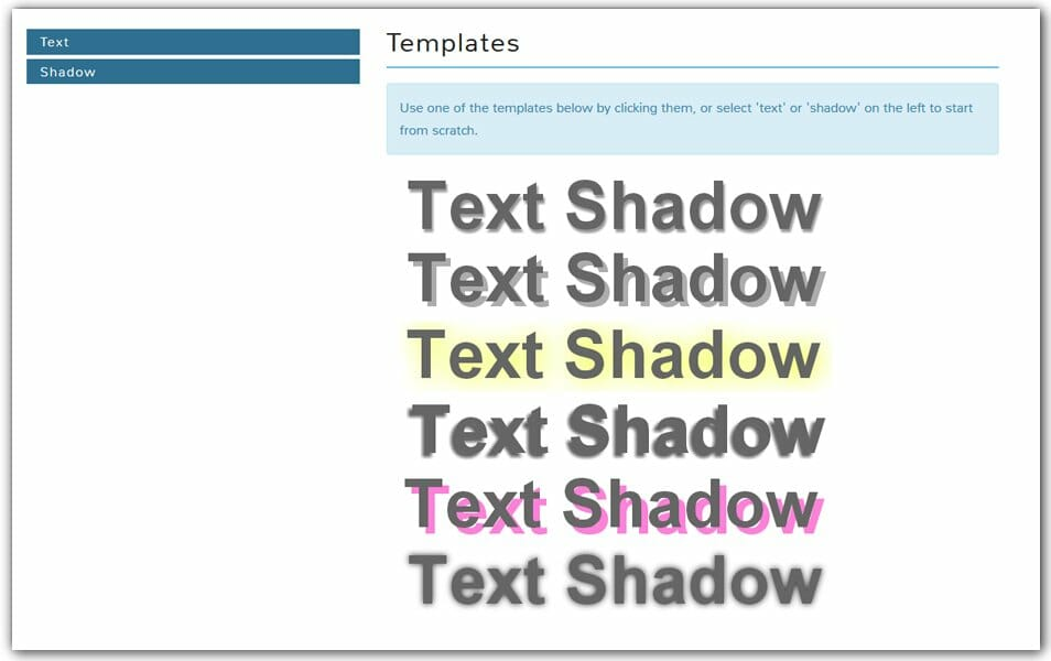 CSS Text Shadow Generator | Coveloping
