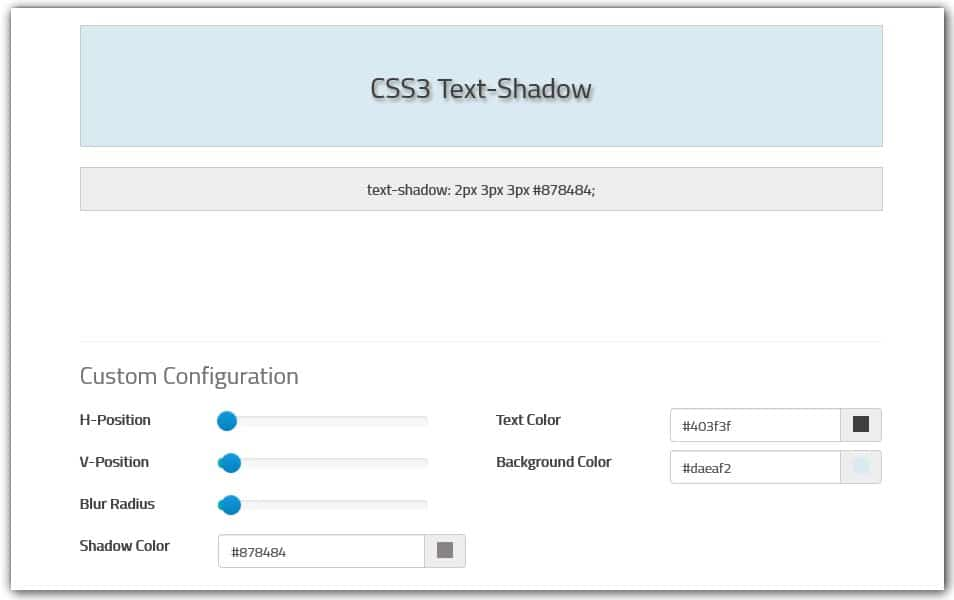 CSS Text-Shadow Generator