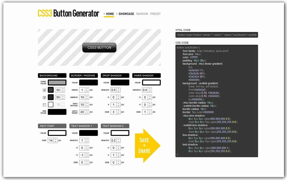 The ultimate collection of 500 css generators css author css3 button generator malvernweather Image collections