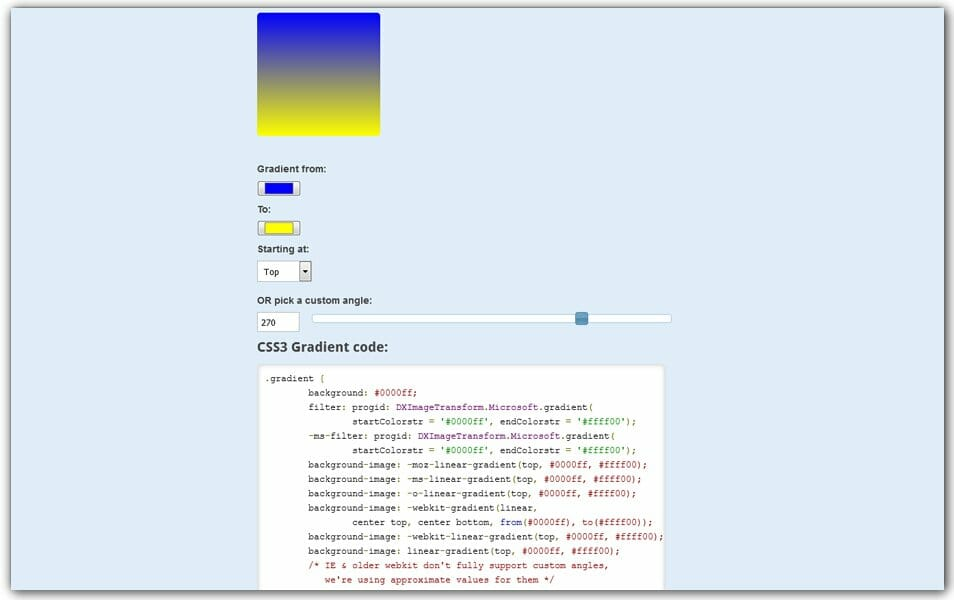 The ultimate collection of 500 css generators css author css3 gradient generator many tools malvernweather Gallery