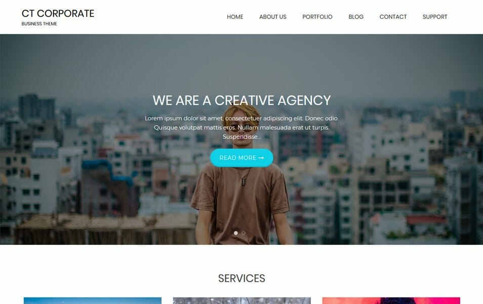 100 best free business wordpress themes 2018 css author ct corporate is an incredibly superfine business wordpress theme the theme is clean and absolutely user friendly one can use it for business portfolio maxwellsz